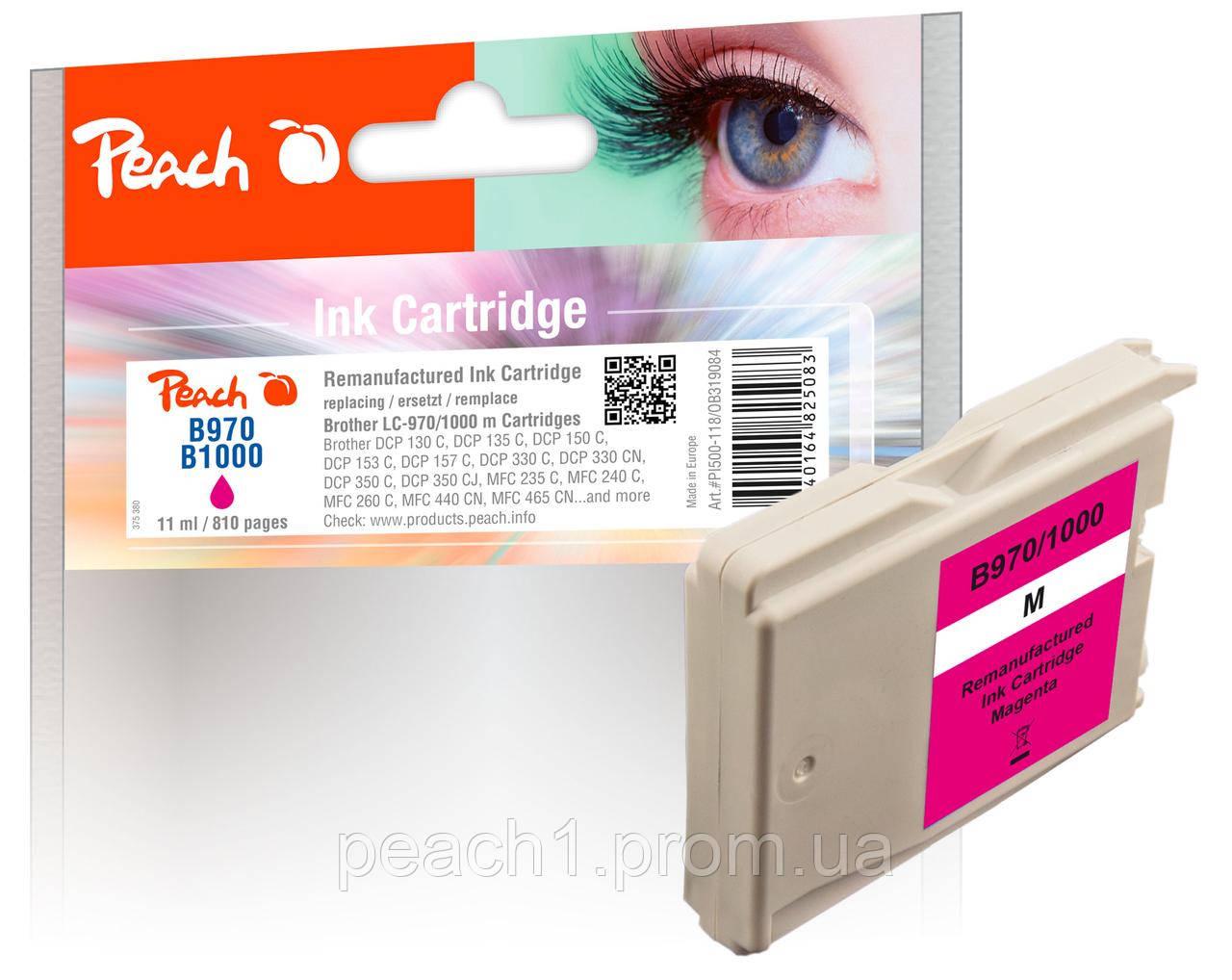 Картридж струйный, розовый (Пурпурный/Magenta), Brother LC 970/1000 .