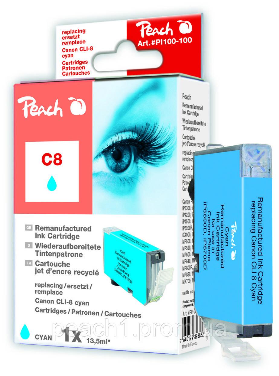 Картридж струменевий, блакитний (Cyan), Canon CLI 8, 0621B001 з оригінальним чіпом.