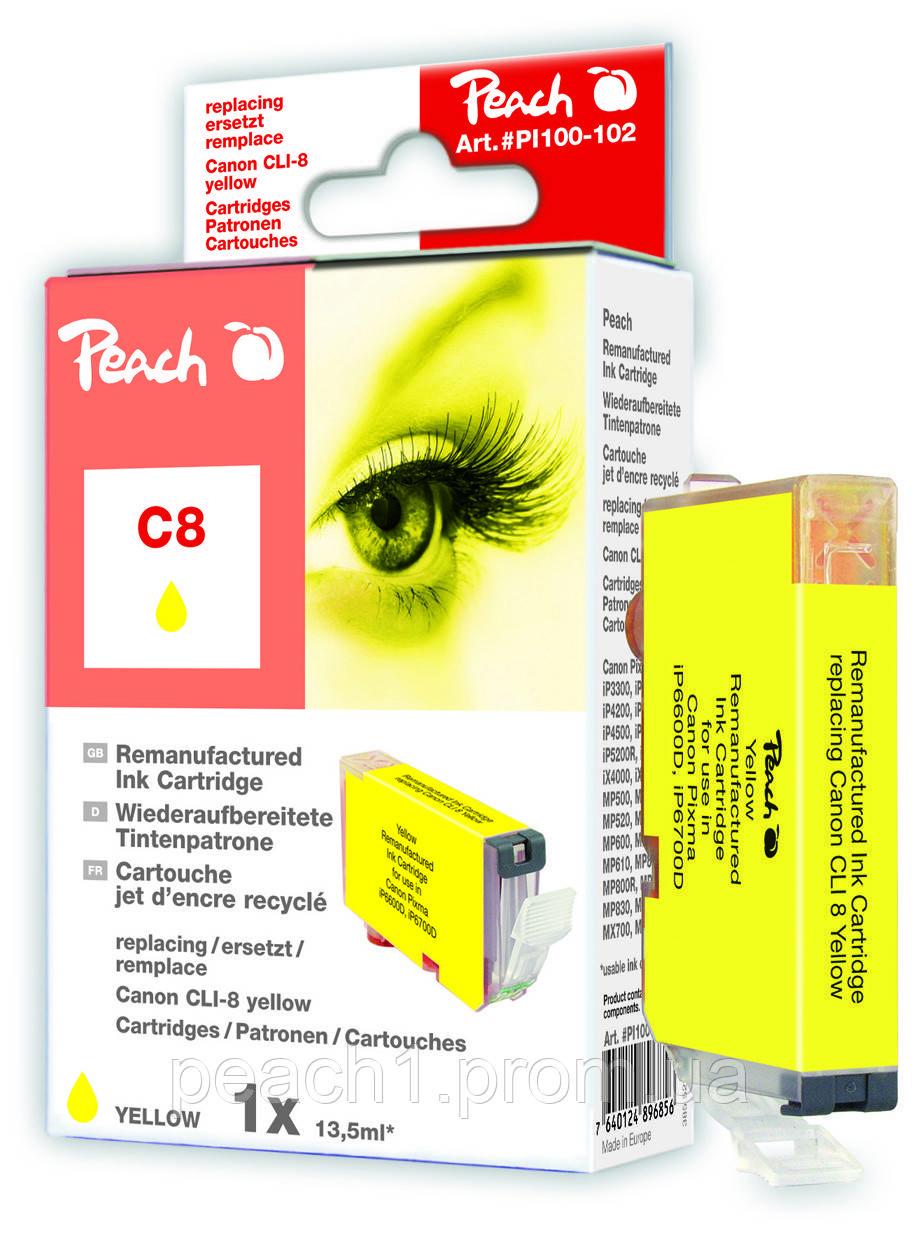 Картридж струменевий, жовтий (Yellow), Canon CLI 8, 0623B001 з оригінальним чіпом.
