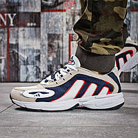 Кроссовки мужские Adidas Galaxy в стиле Адидас Гелекси, замша, текстиль код OO-15913. Бежевые