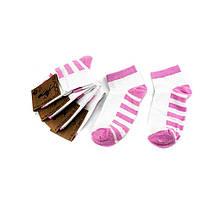 Шкарпетки жіночі Рубіж-Текс 2с136 розов смуг.стопа 35-40