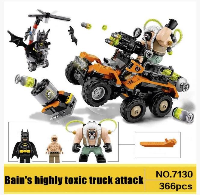 Конструктор DECOOL 7130 Химическая атака Бейна. Аналог Lego technic. Развивающие игрушки.