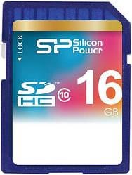 Карта памяти Silicon Power SDHC Class 10 16Gb 29438, КОД: 1172245