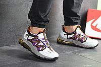 Кроссовки Nike, Найк. Натуральная кожа и сетка. Силиконовые подушки. Код SD-8134. Белые с фиолетовым