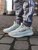 Кроссовки женский Adidas Yeezy Boost 350 в стиле Адидас ИзиБуст, текстиль, текстиль код Z-1825. Белые