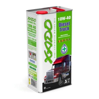 Полусинтетическое масло XADO Atomic Oil 10W-40 Diesel Truck - 5л..