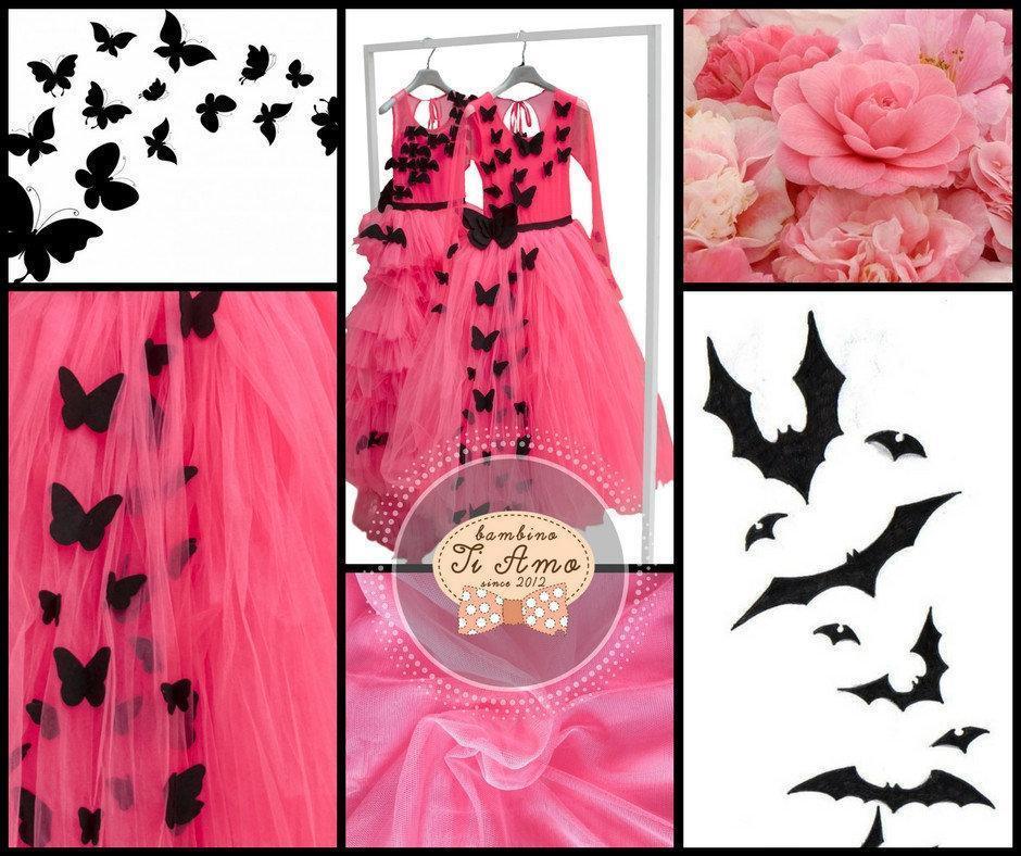 Ошатне плаття для дівчинки BAEL Україна БАБОЧКА Рожевий