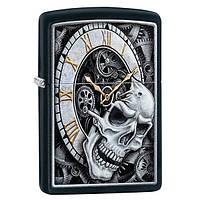 Запальничка Zippo 29854 Skull Clock Design, фото 1