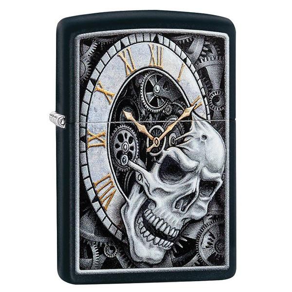 Запальничка Zippo 29854 Skull Clock Design