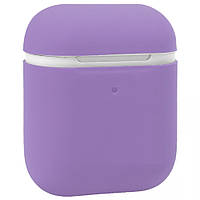 Чехол Ultra Slim Silicone Case For AirPods 1/2 Purple