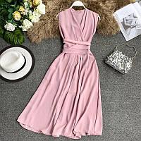 Расклешенное летнее платье на запах