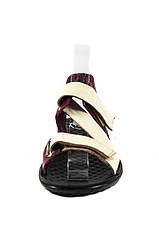 Сандалии женские TiBet 236 кремово-бордовые (37), фото 3