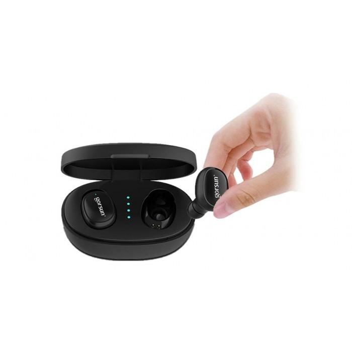 Беспроводные стерео наушники Gorsun V8 Bluetooth + бокс ЧЁРНЫЕ