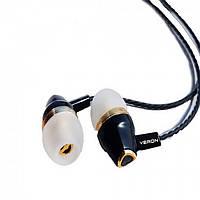 Навушники Veron Vr-02 + мікрофон (silicone cable) Чорні