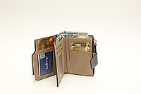 Мужской кошелек Портмоне с монетницей стильный удобный Baellerry D1282 Черный, фото 1