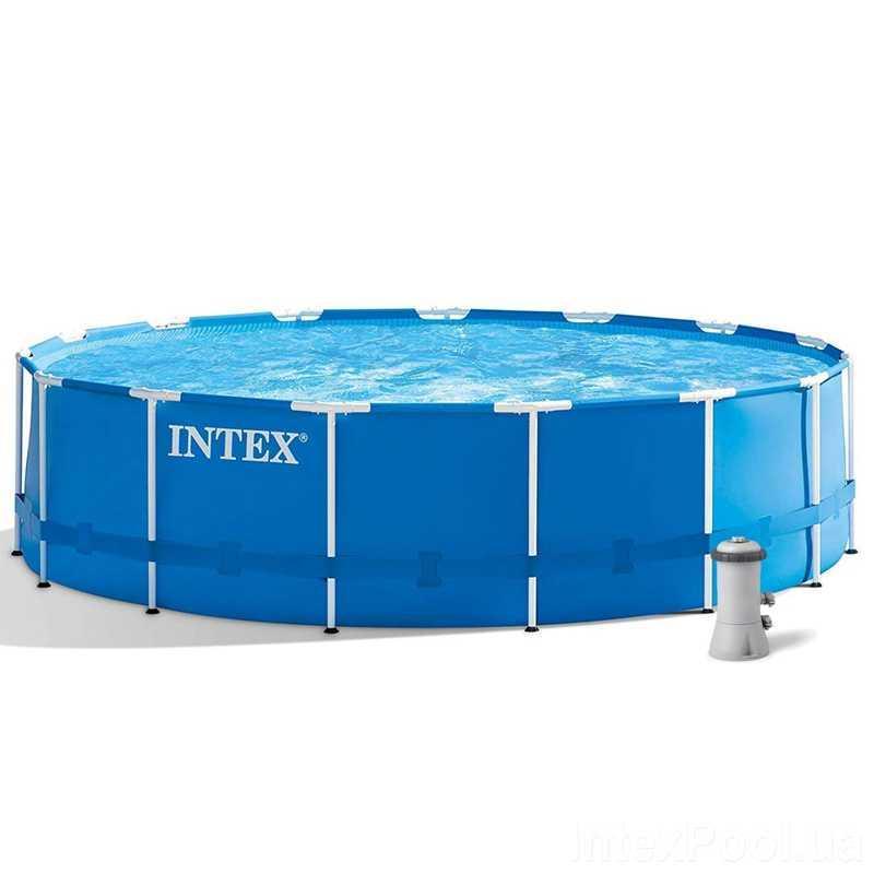 Intex Бассейн каркасный 28242 NP (1) от 6 лет, лестница, тент, подстилка