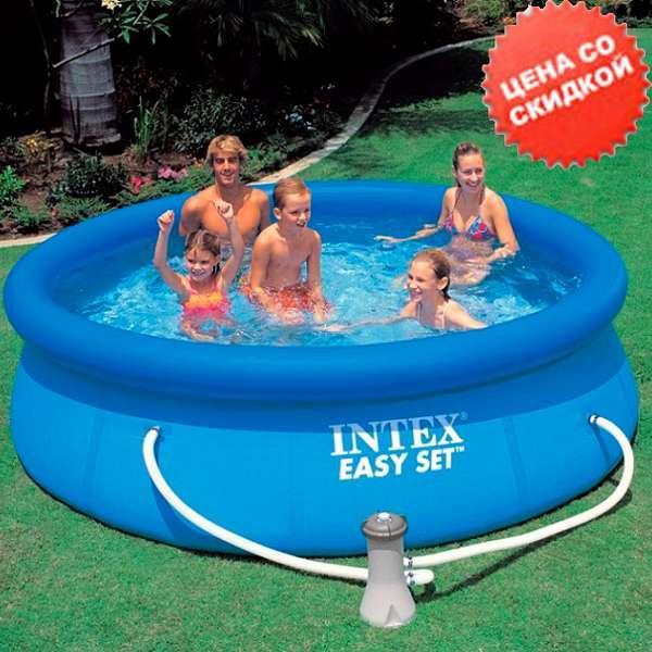 Intex Бассейн наливн. 28112 NP (1) фильтр-насос, размером 244х76см, объём: 2420л, вес: 6,3кг