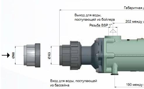 Габаритные размеры Bowman FC100–5114–2С 100 кВт
