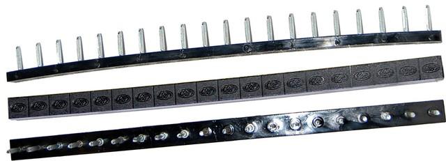 Полоска П/У «SIA» со штырьками на 10 пар 275*15 т.6,6 мм. черн. (Латвия)