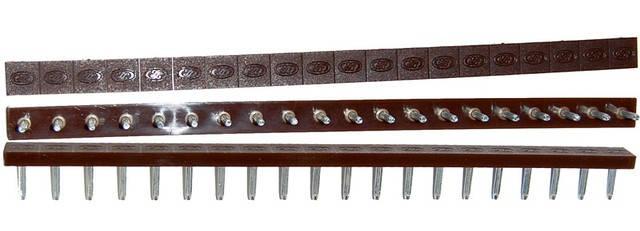 Полоска П/У «SIA» со штырьками на 10 пар 275*15 т.6,6 мм. коричн. (Латвия), фото 2