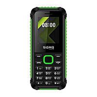 "Кнопочный телефон Sigma X-Style 18 Track Black-Green 1.77"" micro max 32 gbАКБ 1000мА*ч 1000мА*ч"