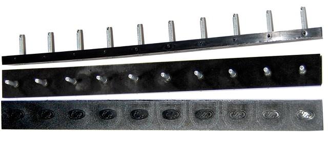 Полоска П/У «SIA» со штырьками на 5 пар 235*22 т.6,6 мм. черн. (Латвия)