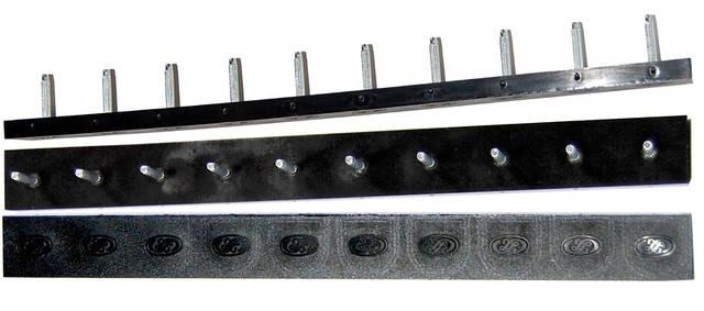 Полоска П/У «SIA» со штырьками на 5 пар 235*22 т.6,6 мм. черн. (Латвия), фото 2