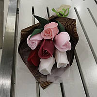 Букет из мыльных цветов розы  Цветочная композиция из мыла ручной работы  Мыльный букет