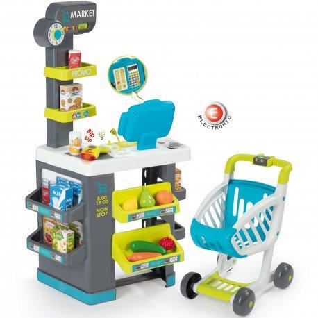Интерактивный супермаркет Toys City Market с тележкой Smoby 350212