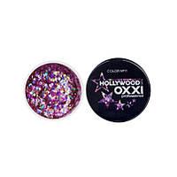 Глиттерный гель OXXI Hollywood 11 рожева веселка з голографічним ефектом, 5 м