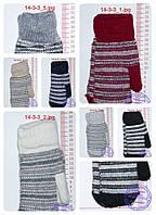 Унисекс перчатки вязаные двойные - разные цвета - 14-3-9, фото 1