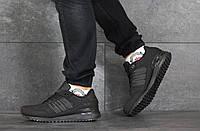 Кроссовки Adidas ZX 750 мужские, черные, в стиле Адидас ЗетИкс 750, нубук, код SD-8352