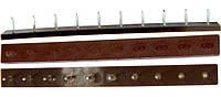 Полоска П/У «SIA» со штырьками на 5 пар 235*22 т.6,6 мм. коричн. (Латвия)