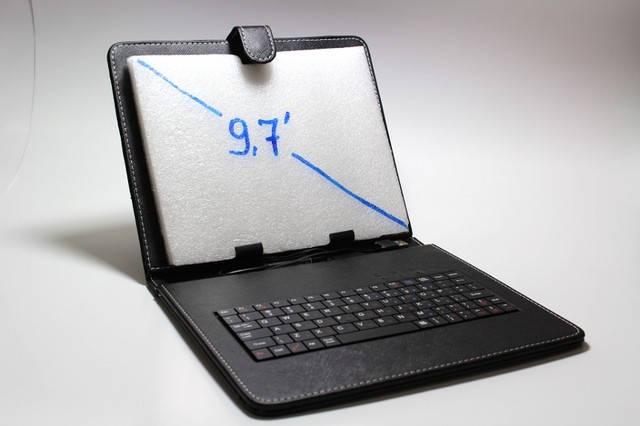 Чехол-клавиатура для планшета 9.7 дюймов Англ/Рус, фото 2
