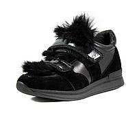 Туфли женские MIDA 210046-249 черная замша-кожа (36)