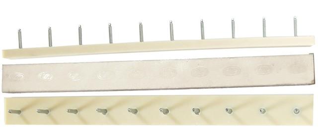 Полоска П/У «SIA» со штырьками на 5 пар 235*22 т.6,6 мм. бел. (Латвия)