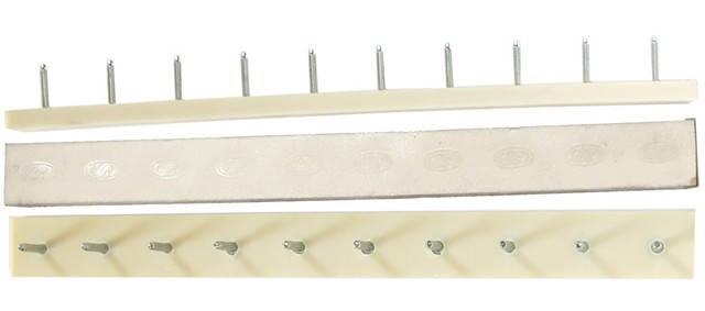 Полоска П/У «SIA» со штырьками на 5 пар 235*22 т.6,6 мм. бел. (Латвия), фото 2