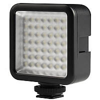 Накамерный свет Ulanzi W49 постоянный для фото и видеокамер Черный (3067-8793)