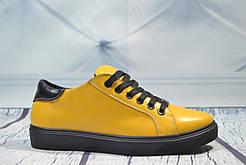 Кеды кожаные Royal Shoes 259 Желтые