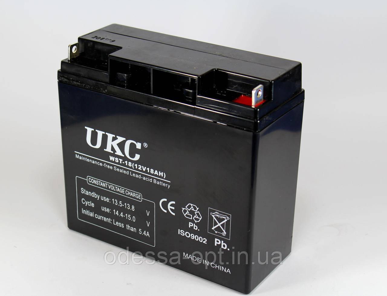 Аккумулятор BATTERY 12V 18A (Реальная ёмкость -40%)