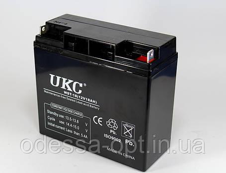 Аккумулятор BATTERY 12V 18A (Реальная ёмкость -40%), фото 2