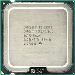 Б/У Процессор Intel E4500 /Ядер 2/Частота 2,6Ггц /Intel Core 2 Duo/LGA775