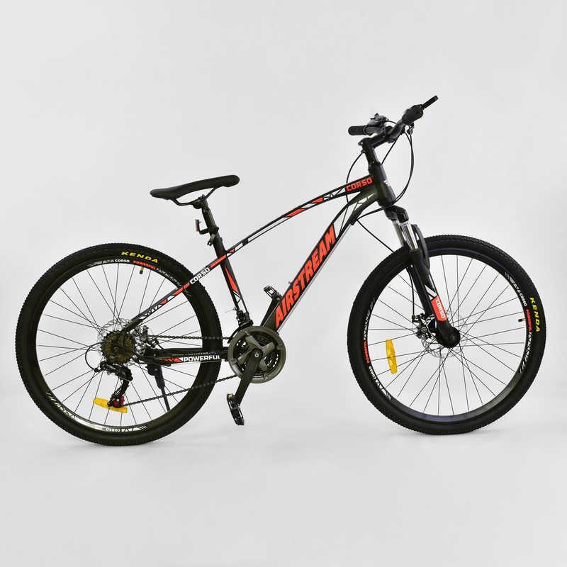 """Велосипед Спортивный CORSO AIRSTREAM 26""""дюймов JYT 002 - 8345 BLACK-RED (1) рама металлическая 17"""
