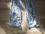 Летние джинсы-шаровары для девочки, фото 4