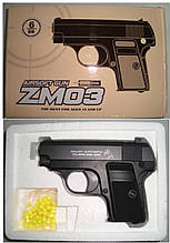 ZM03 Детский пистолет металл на пульках