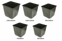 Горшок для рассады квадратный 6х5.5 см.0.15л