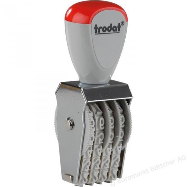Нумератор ленточный 4-разрядный прямоугольный Trodat 1554 5 мм