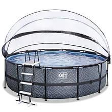 Бассейн с куполом EXIT камень 450х122 см (фильтр картридж)