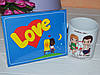 Подарочный набор Лав Их шоколад и чашка