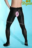 Чоловічі теплі колготки 80D чорного кольору XL